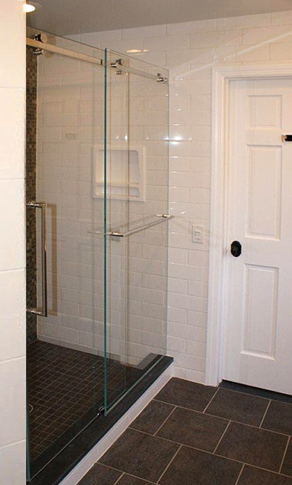 Serenity All Glass Shower with Sliding Door