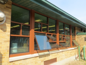 Operable fixed commercial glass windows flower city glass for Operable awning windows