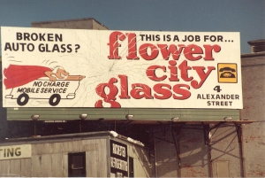 Early Flower City Glass Auto Glass Signage