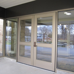 Aluminum Entrance Doors For Commercial Buildings Flower